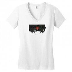 ctrl + zeta in black Women's V-Neck T-Shirt   Artistshot