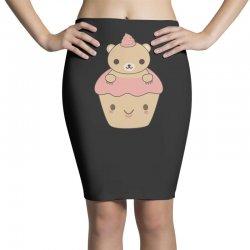 cute brown bear cupcake Pencil Skirts | Artistshot