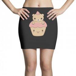 cute brown bear cupcake Mini Skirts | Artistshot