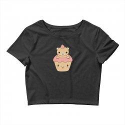 cute brown bear cupcake Crop Top | Artistshot
