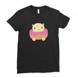 cute cat donut Ladies Fitted T-Shirt   Artistshot
