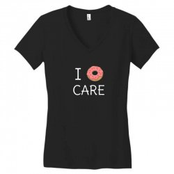cute i donut care Women's V-Neck T-Shirt | Artistshot