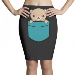 cute pocket brown bear Pencil Skirts | Artistshot
