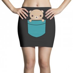 cute pocket brown bear Mini Skirts | Artistshot