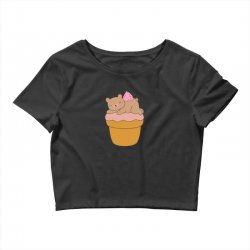 delicious ice cream bear is kawaii Crop Top | Artistshot