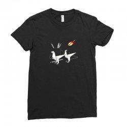 desktop extintion Ladies Fitted T-Shirt | Artistshot