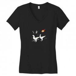 desktop extintion Women's V-Neck T-Shirt | Artistshot