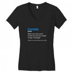 despite the constant negative press covfefe Women's V-Neck T-Shirt | Artistshot