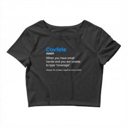 despite the constant negative press covfefe Crop Top | Artistshot