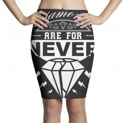 diamonds are for never Pencil Skirts | Artistshot