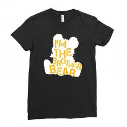 i'm the brother bear for dark Ladies Fitted T-Shirt | Artistshot