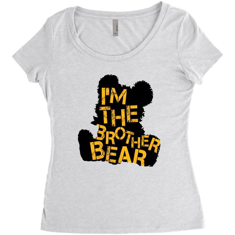 I'm The Brother Bear For Light Women's Triblend Scoop T-shirt   Artistshot