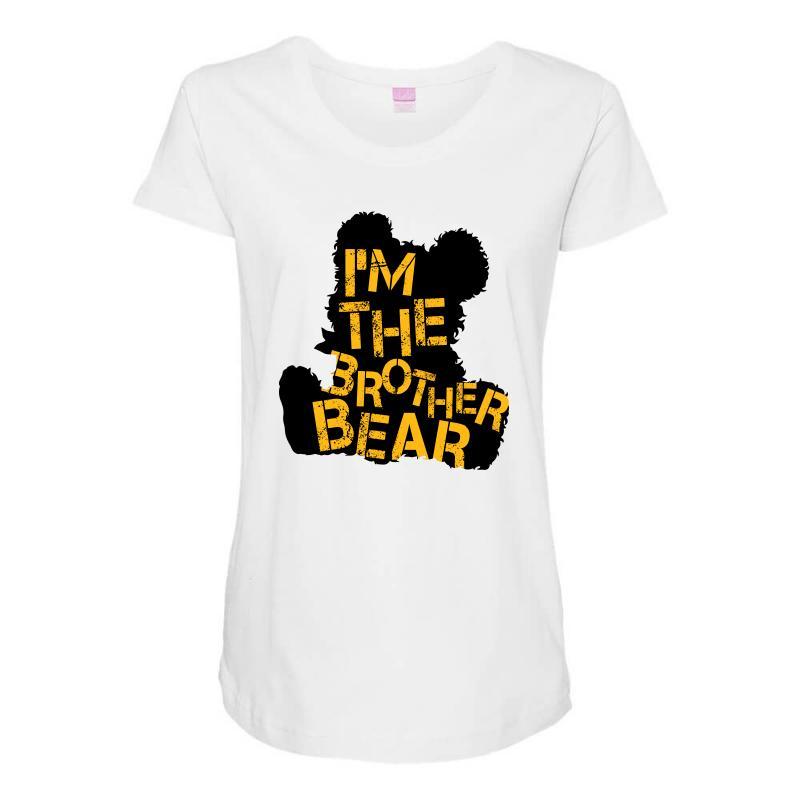 I'm The Brother Bear For Light Maternity Scoop Neck T-shirt   Artistshot