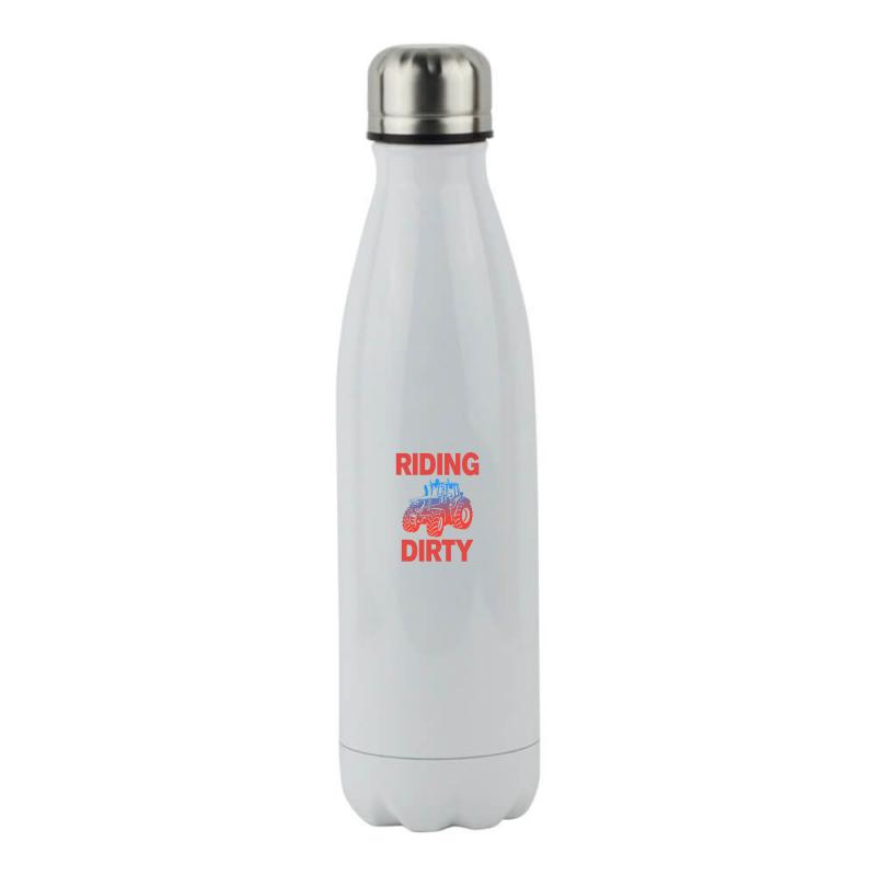 Riding Dirty Stainless Steel Water Bottle   Artistshot
