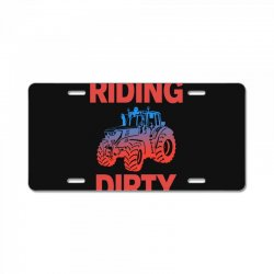riding dirty License Plate | Artistshot