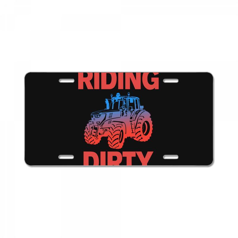 Riding Dirty License Plate   Artistshot