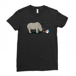 sad rhino Ladies Fitted T-Shirt | Artistshot