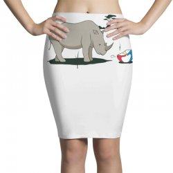 sad rhino Pencil Skirts | Artistshot