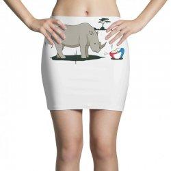 sad rhino Mini Skirts | Artistshot