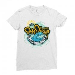san diego california surfing surf Ladies Fitted T-Shirt | Artistshot