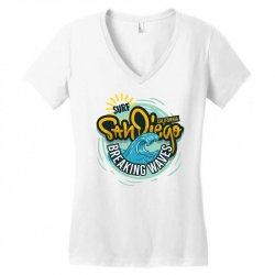 san diego california surfing surf Women's V-Neck T-Shirt | Artistshot