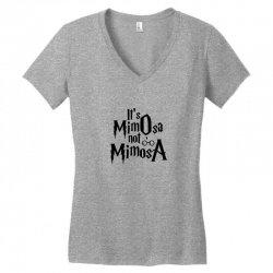 it's mimosa not mimosa Women's V-Neck T-Shirt   Artistshot