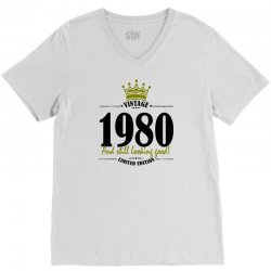 vintage 1980 and still looking good V-Neck Tee | Artistshot