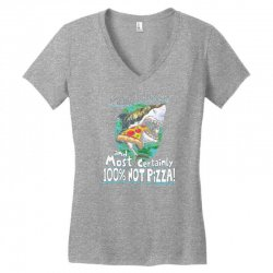 sharks love pizza not humans Women's V-Neck T-Shirt | Artistshot