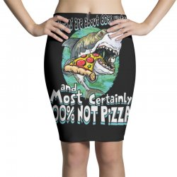 sharks love pizza not humans Pencil Skirts | Artistshot