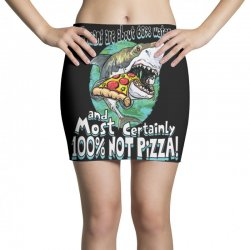 sharks love pizza not humans Mini Skirts | Artistshot