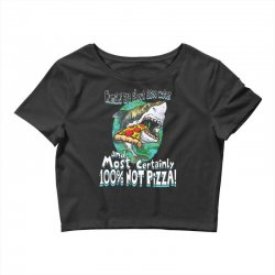 sharks love pizza not humans Crop Top | Artistshot