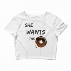 she wants the d..onut Crop Top | Artistshot