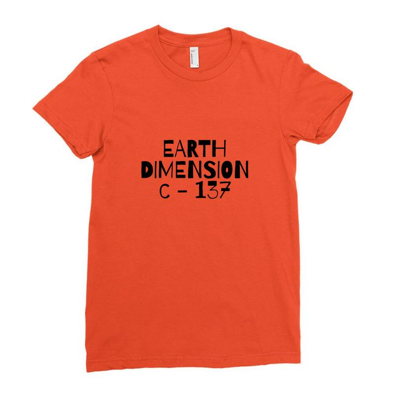 Earth Dimension C 137 Ladies Fitted T-shirt   Artistshot