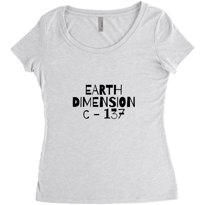 Earth Dimension C 137 Women's Triblend Scoop T-shirt   Artistshot