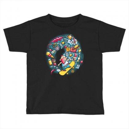 Skateboard (2) Toddler T-shirt Designed By Daudart