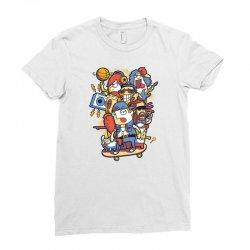 skateboard Ladies Fitted T-Shirt | Artistshot