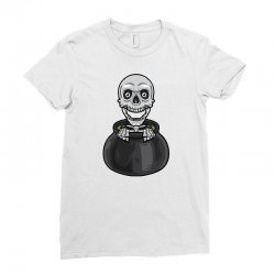 skeleton big pot Ladies Fitted T-Shirt | Artistshot
