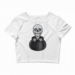 skeleton big pot Crop Top | Artistshot