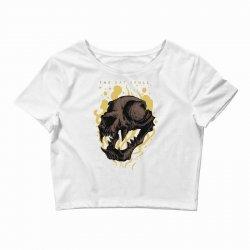 skull cat Crop Top | Artistshot