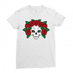 skull girl roses Ladies Fitted T-Shirt | Artistshot