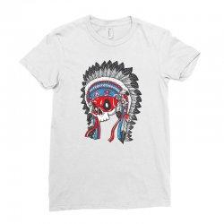 skull indians Ladies Fitted T-Shirt   Artistshot
