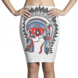skull indians Pencil Skirts   Artistshot