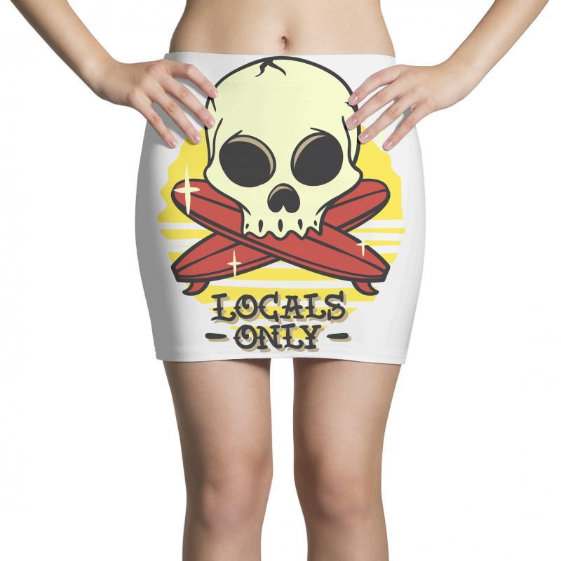 Skull Locals Only (2) Mini Skirts | Artistshot