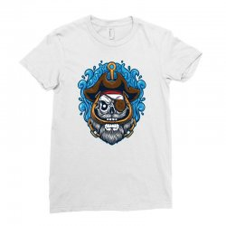 skull pirate Ladies Fitted T-Shirt | Artistshot