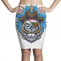 skull pirate Pencil Skirts | Artistshot