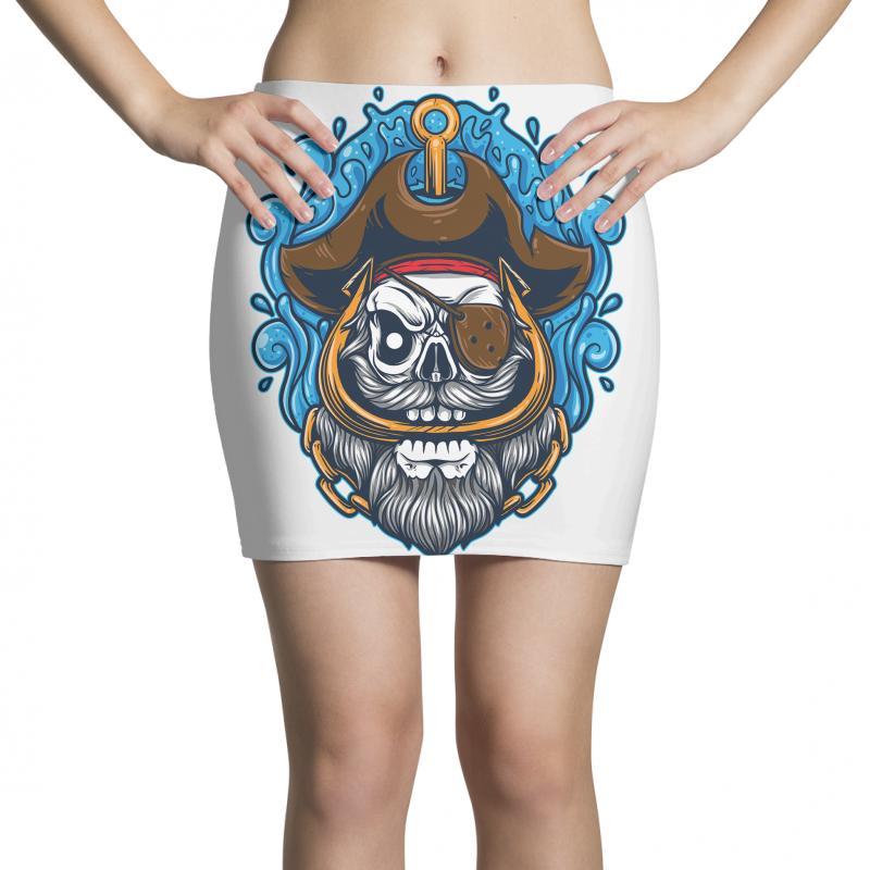Skull Pirate Mini Skirts | Artistshot