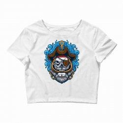 skull pirate Crop Top | Artistshot