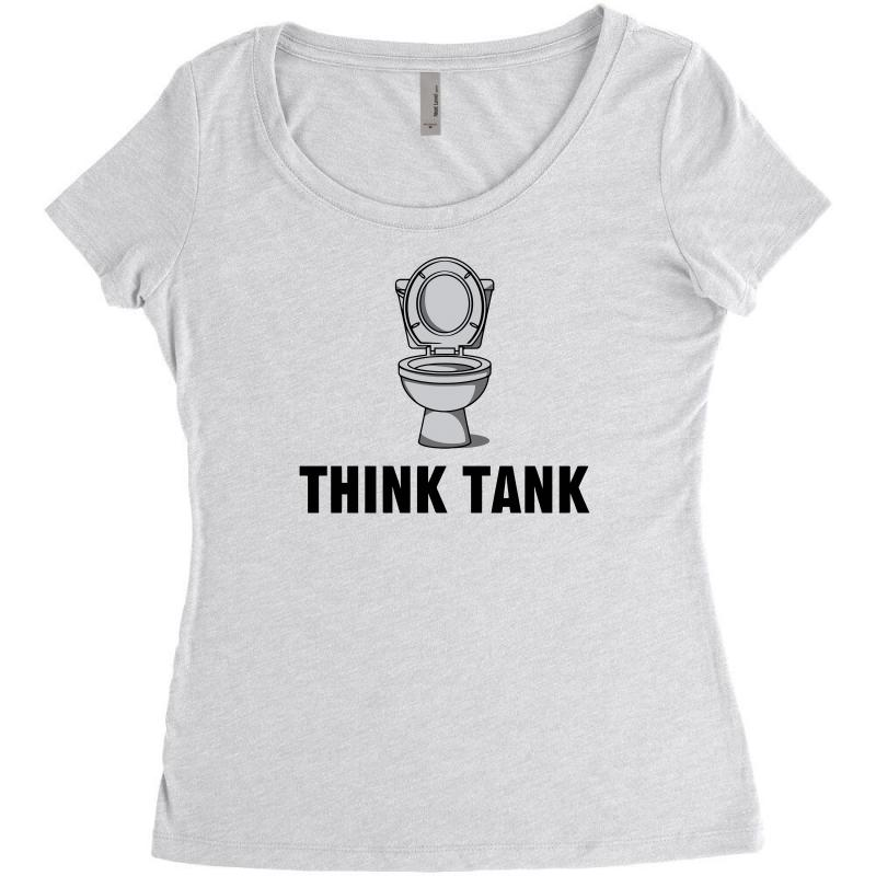 Think Tank Women's Triblend Scoop T-shirt | Artistshot