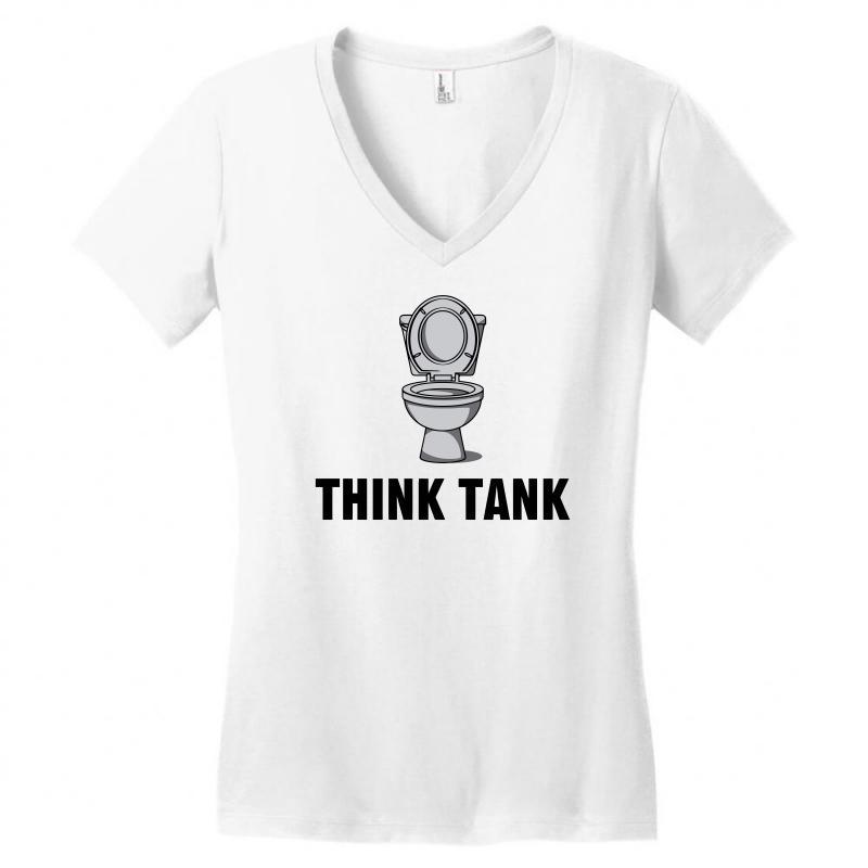 Think Tank Women's V-neck T-shirt | Artistshot
