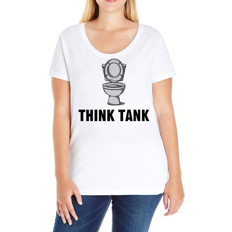 Think Tank Ladies Curvy T-shirt   Artistshot